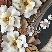 """Картины и панно ручной работы. Ярмарка Мастеров - ручная работа Картина из кожи """"Весеннее настроение"""". Handmade."""