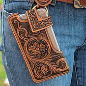Сумки и аксессуары handmade. Livemaster - original item Case holster for phone. Handmade.