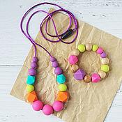 Одежда handmade. Livemaster - original item Slingobusy silicone vivid and teething toy set. Handmade.