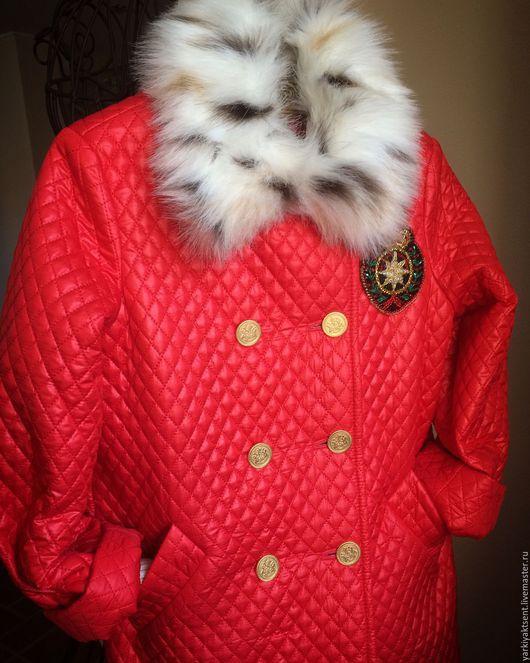 Одежда для девочек, ручной работы. Ярмарка Мастеров - ручная работа. Купить Пальто зимнее ПТЗ 1043. Handmade. Коралловый