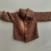 """Работы для детей, ручной работы. Ярмарка Мастеров - ручная работа """"Солнечный лучик"""" кофта букле с капюшоном на пуговицах. Handmade."""