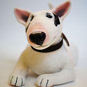 Куклы и игрушки ручной работы. Ярмарка Мастеров - ручная работа Бультерьер Рикки. Handmade.