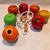 """Игрушки-шнуровки ручной работы. Ярмарка Мастеров - ручная работа Шнуровка """"Наливные яблочки - четыре сорта"""". Handmade."""