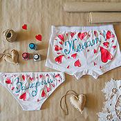 Одежда handmade. Livemaster - original item pair of undies for the wedding. Handmade.