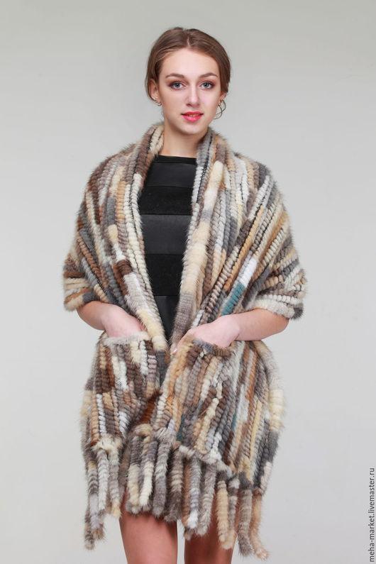Палантин из вязаной норки `Кензо Лайт`
