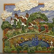 Картины и панно ручной работы. Ярмарка Мастеров - ручная работа Панно усадьба. Handmade.