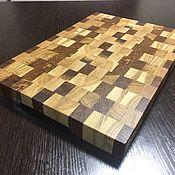 Доски ручной работы. Ярмарка Мастеров - ручная работа Кухонная деревянная торцевая разделочная доска. Handmade.