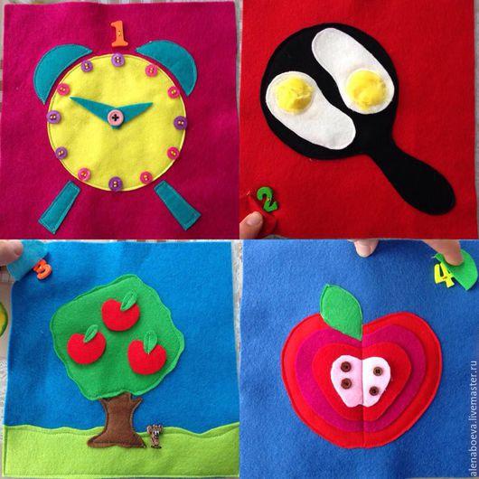"""Развивающие игрушки ручной работы. Ярмарка Мастеров - ручная работа. Купить развивающая книжка """"Веселый счет"""". Handmade. Комбинированный, для детей"""