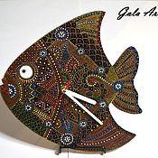 """Для дома и интерьера ручной работы. Ярмарка Мастеров - ручная работа Настенные часы """"Чудо-рыба"""". Handmade."""