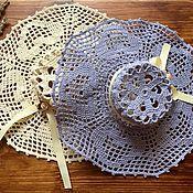 Для дома и интерьера ручной работы. Ярмарка Мастеров - ручная работа Две декоративные шляпки. Handmade.