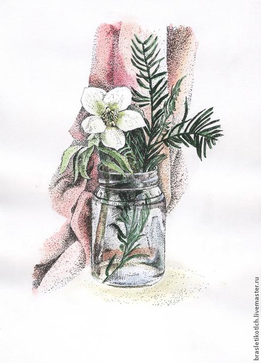 """Картины цветов ручной работы. Ярмарка Мастеров - ручная работа. Купить Картина акварелью """"Нежный цветок"""". Handmade. Цветок, акварель"""