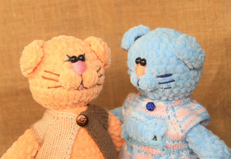 Влюбленные коты, Мягкие игрушки, Арсеньев,  Фото №1