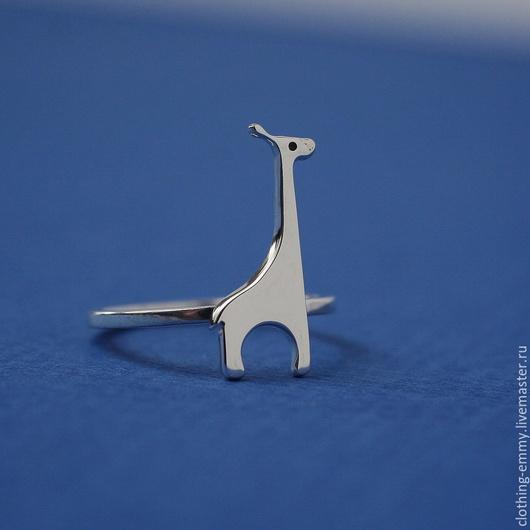 Кольца ручной работы. Ярмарка Мастеров - ручная работа. Купить Колечко Жираф. Handmade. Серый, кольцо серебряное, подарок