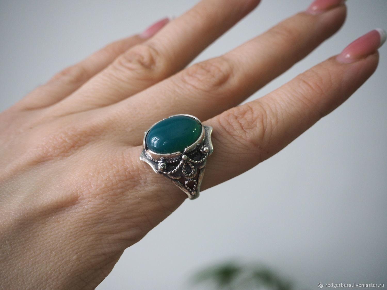Ring Carolina natural onyx, silver 925, Rings, Kostroma,  Фото №1