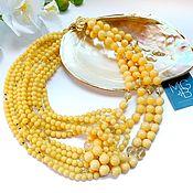 Украшения handmade. Livemaster - original item Necklace made of yellow jade and citrine. Handmade.
