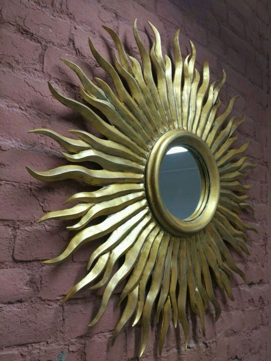Зеркала ручной работы. Ярмарка Мастеров - ручная работа. Купить Зеркало солнце Sol. Handmade. Золотой