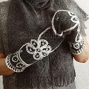 Аксессуары handmade. Livemaster - original item 407, Mittens of knitted wool Varvarski. Handmade.