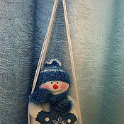 """Подарки к праздникам ручной работы. Ярмарка Мастеров - ручная работа Снеговик """"Малыш на качелях"""". Handmade."""