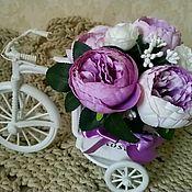 Композиции ручной работы. Ярмарка Мастеров - ручная работа Интерьерная композиция Велосипед с сиреневыми пионами. Handmade.