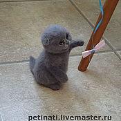 Куклы и игрушки handmade. Livemaster - original item felted kitty shotladsky fold