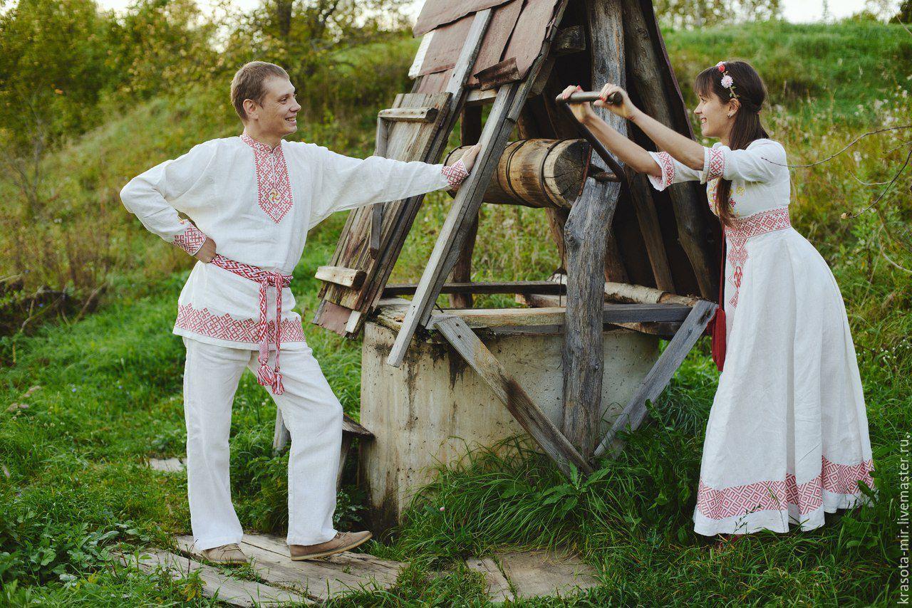 Славянский стиль свадьбы фото