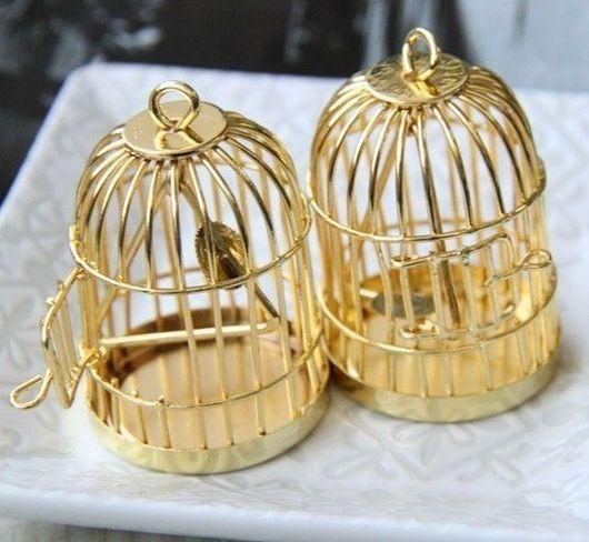 Для украшений ручной работы. Ярмарка Мастеров - ручная работа. Купить Подвеска Клетка золотая (1шт). Handmade. Клетка