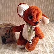 Куклы и игрушки ручной работы. Ярмарка Мастеров - ручная работа Осенний лисенок тедди с бубенчиком. Handmade.