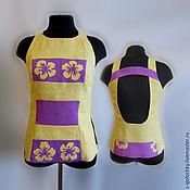 Одежда ручной работы. Ярмарка Мастеров - ручная работа Топ из льна с открытой спинкой. Handmade.