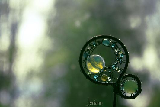 """Заколки ручной работы. Ярмарка Мастеров - ручная работа. Купить Шпилька """"Мыльные пузыри"""". Handmade. Синий, мыльные пузыри, детство"""
