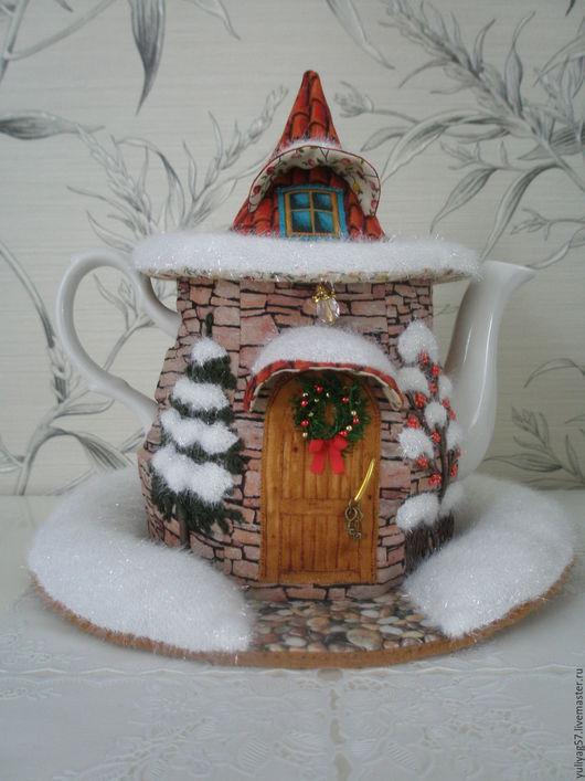 """Кухня ручной работы. Ярмарка Мастеров - ручная работа. Купить Грелка для чайника """"Встречаем Рождество."""". Handmade. Грелка на чайник"""