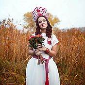"""Свадебный салон ручной работы. Ярмарка Мастеров - ручная работа Образ невесты """"ETNO FRESH"""". Handmade."""