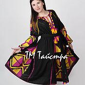 Одежда ручной работы. Ярмарка Мастеров - ручная работа Платье  женское с вышивкой 4 клина,бохо, этно стиль  Vita Kin,Bohemian. Handmade.