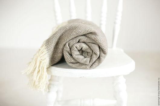 Текстиль, ковры ручной работы. Ярмарка Мастеров - ручная работа. Купить Шерстяной плед серый. Handmade. Шерстяной плед