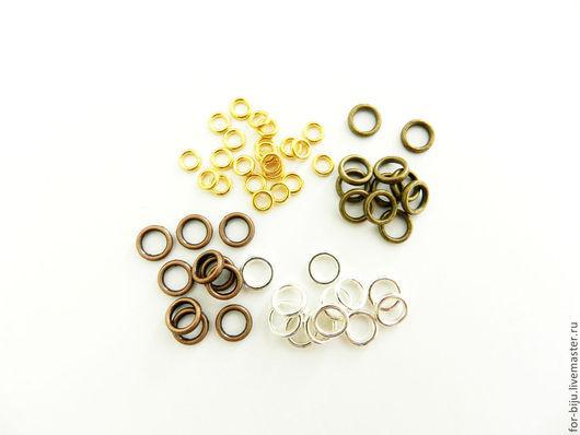 Соединительные колечки неразъемные (запаянные), толщина 0,9 мм, материал сплав металлов
