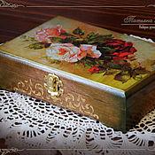 """Для дома и интерьера ручной работы. Ярмарка Мастеров - ручная работа Шкатулка """"Королевские розы"""". Handmade."""