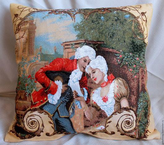 Текстиль, ковры ручной работы. Ярмарка Мастеров - ручная работа. Купить УРОК КРАСНОРЕЧИЯ: гобеленовый чехол на подушку, 45-45 см. Handmade.