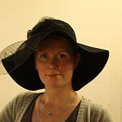 Аксессуары ручной работы. Ярмарка Мастеров - ручная работа авторская  шляпа из фетра с бантом и звуали. Handmade.