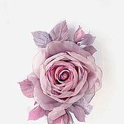 """Украшения ручной работы. Ярмарка Мастеров - ручная работа ЦВЕТЫ ИЗ ТКАНИ Ветка розы """"Палево-розовая"""". Handmade."""