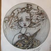 Картины и панно ручной работы. Ярмарка Мастеров - ручная работа Воробушек Продан. Handmade.