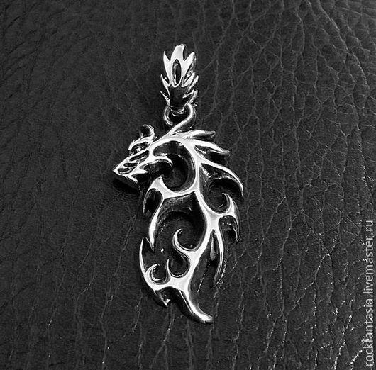 Кулоны, подвески ручной работы. Ярмарка Мастеров - ручная работа. Купить Серебряный кулон Дракон, подвеска с драконом мужской женский серебро. Handmade.