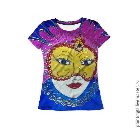 """Футболки, майки ручной работы. Ярмарка Мастеров - ручная работа. Купить Женская футболка """"Венеция"""" с авторским принтом 3D. Handmade."""