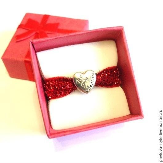 Бусина `Будь моим Валентином` в подарочной коробочке 60 р. Бусина без коробочки 30 р.