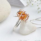 Украшения handmade. Livemaster - original item Ring silver amber Buds. Handmade.