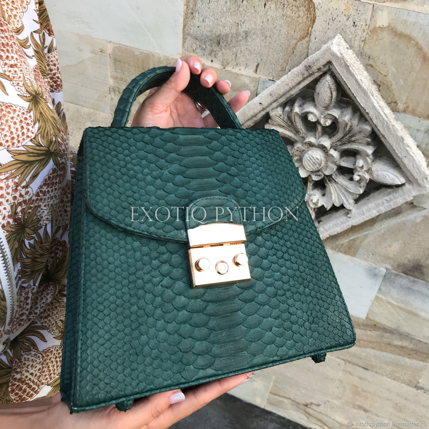 Stylish bag made from Python, Classic Bag, Moscow,  Фото №1