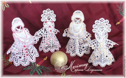 Сказочные персонажи ручной работы. Ярмарка Мастеров - ручная работа. Купить Снегурочка и Дед Мороз (отдельно МК и дизайны). Handmade.