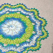 Для дома и интерьера ручной работы. Ярмарка Мастеров - ручная работа Салфетка круглая №3. Handmade.