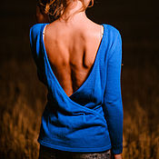 """Одежда ручной работы. Ярмарка Мастеров - ручная работа Кофта вязаная женская с открытой спиной """". Handmade."""