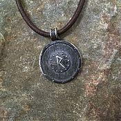 Украшения handmade. Livemaster - original item A shield with the rune Raido. Handmade.