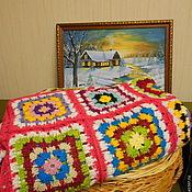 """Подарки к праздникам ручной работы. Ярмарка Мастеров - ручная работа Плед """"У бабушки в деревне"""" (двуспальный). Handmade."""