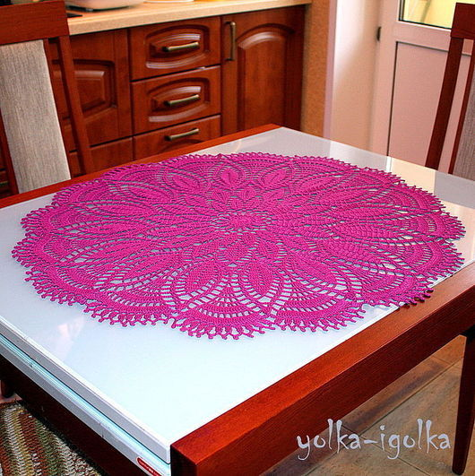 Текстиль, ковры ручной работы. Ярмарка Мастеров - ручная работа. Купить Салфетка фиолетовая. Handmade. Салфетка, украшение для интерьера, хлопок